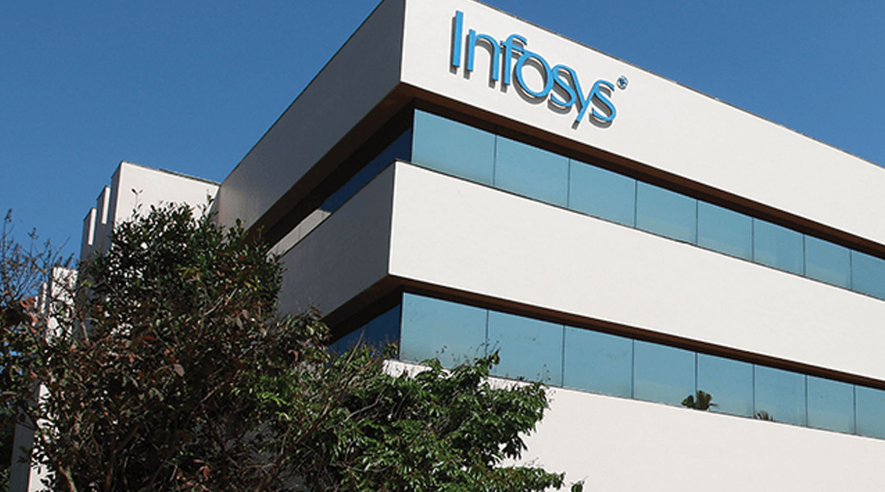 A view of Infosys building