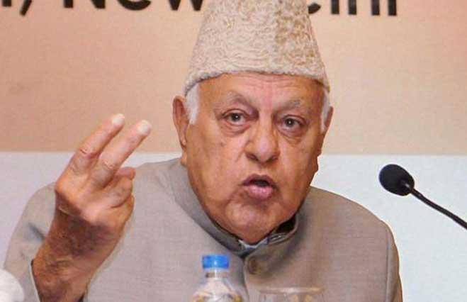 Former chief minister of Jammu and Kashmir Farooq Abdullah