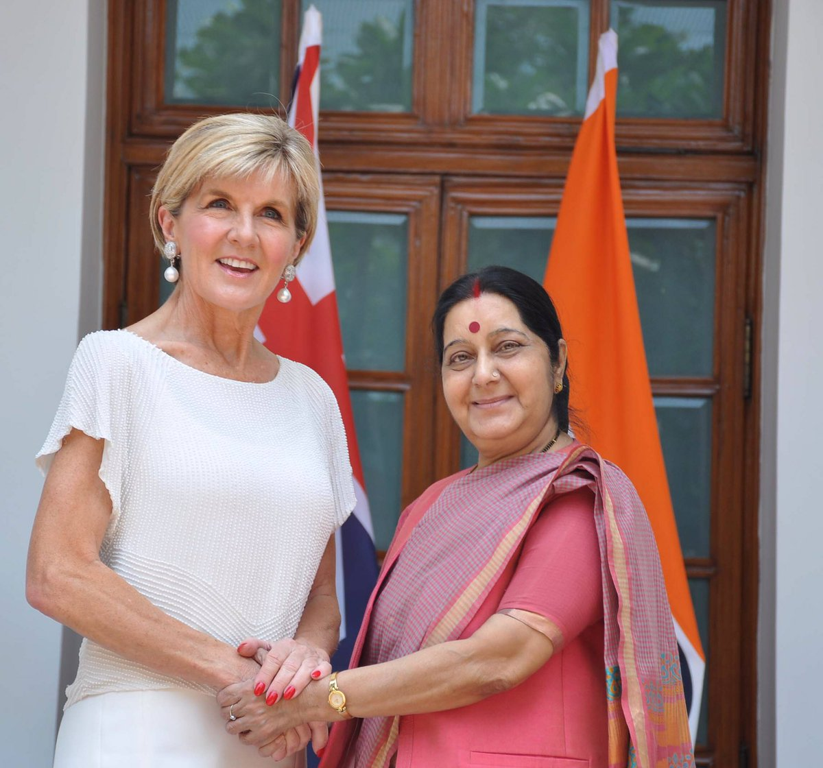 Julie Bishop, Australian Foreign Affairs Minister and Sushma Swaraj, Indian External Affairs Minister