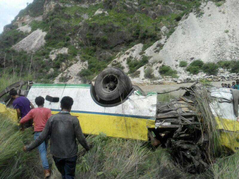 Bus which fell into the gorge
