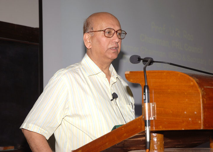 ISRO chairman and space scientist UR Rao