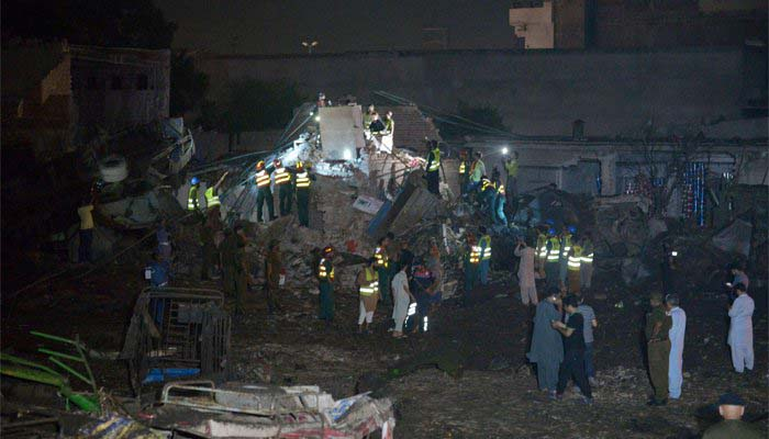 A view of Lahore blast