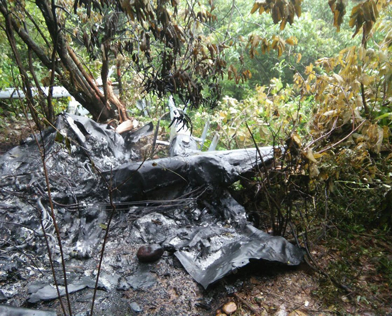 UAV of the Indian Air Force, which crashed