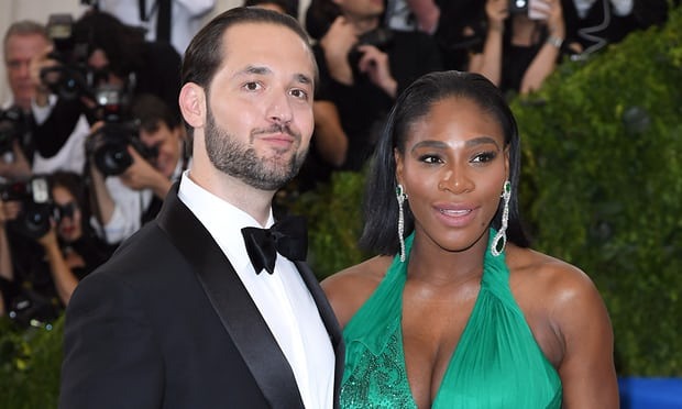 Tennis player Serena Williams and her fiance  Alexis Ohanian