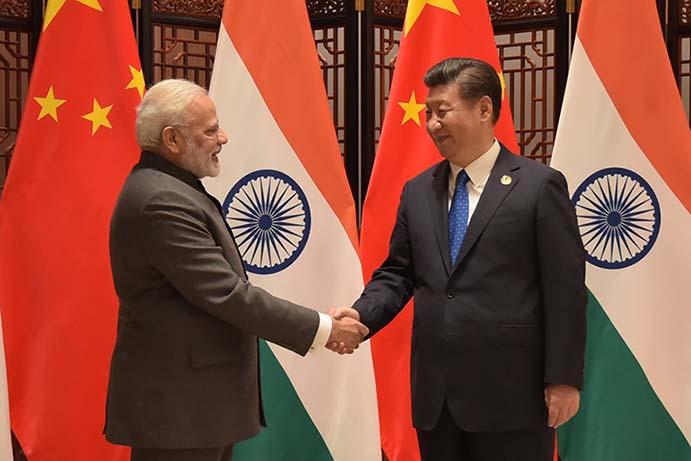 Prime Minister Narendra Modi meets Chinese President Xi Jinping