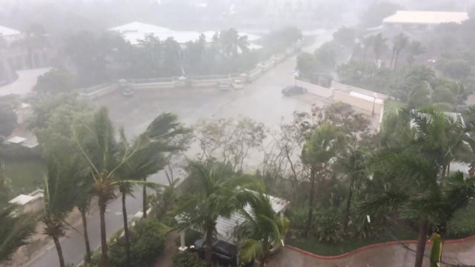 A storm batters as Hurricane Irma descends on Providenciales, in the Turks and Caicos Islands