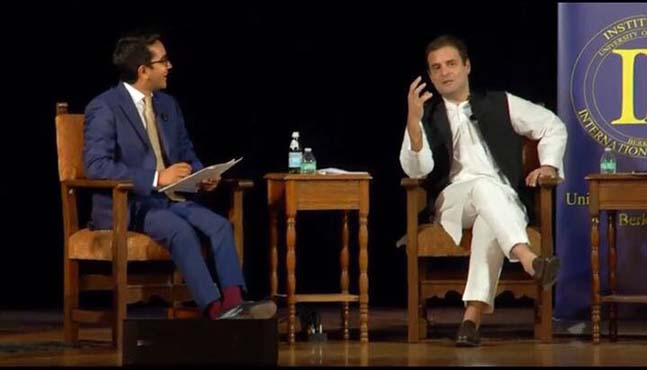 Rahul Gandhi addressed the students of University of California, Berkeley