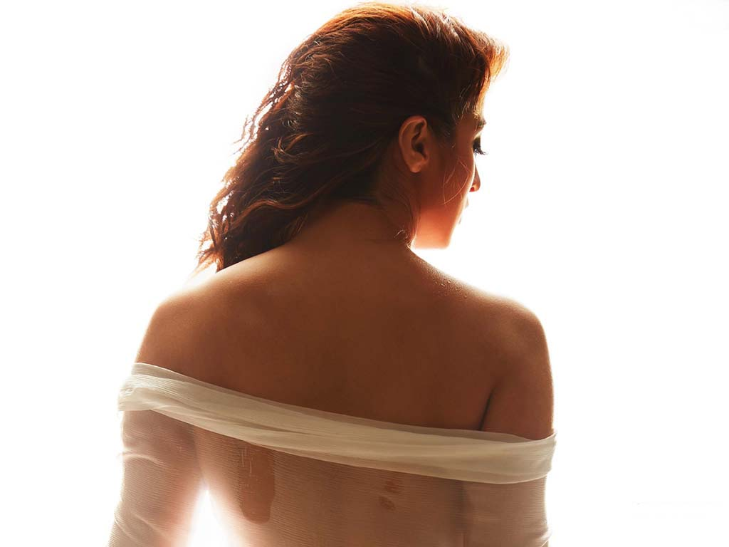 Back pose of Bollywood actress Raai Laxmi