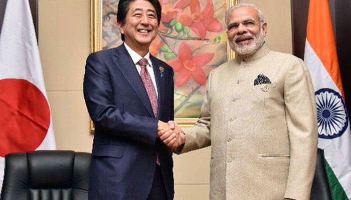 Prime Minister Narendra Modi and his Japanese counterpart Shinzo Abe
