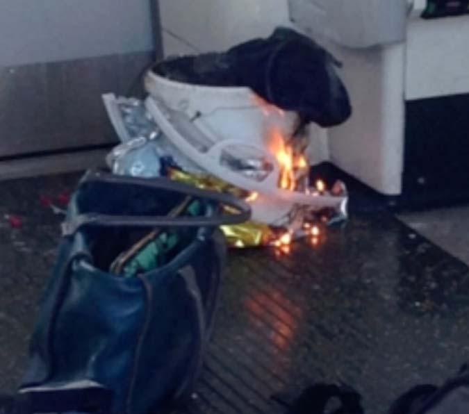 An explosion in underground train in London
