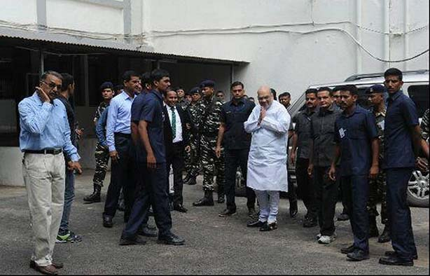 BJP President arrives at special designated court conducting trial on Naroda Gaam massacre case