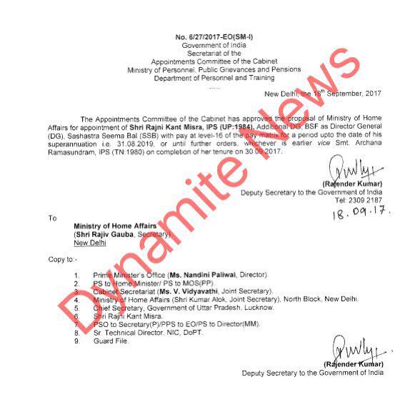 Appointment letter of Ranjikant Mishra