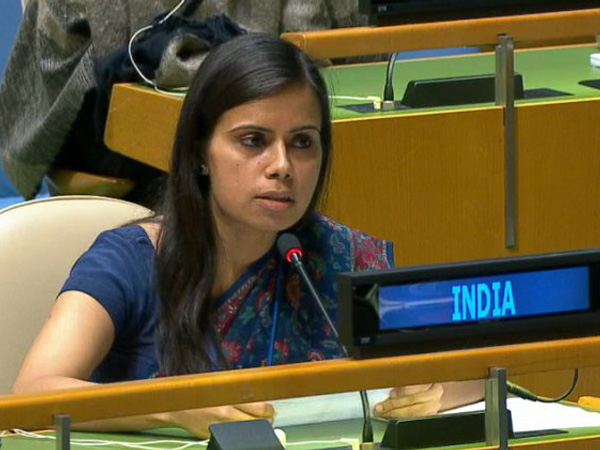 First Secretary in the Permanent Mission of India to the UN, Eenam Gambhir.