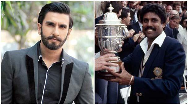 Bollywood star Ranveer Singh and Kapil Dev
