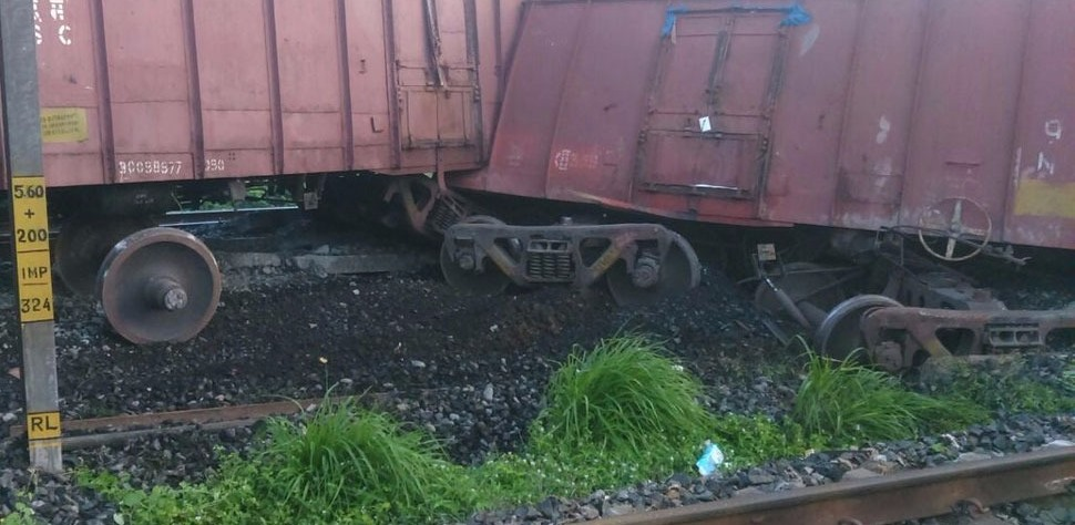 A site of the derailed Train