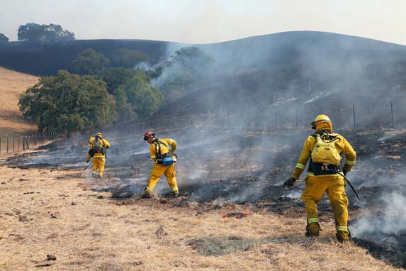Wildfire that swept through northern California