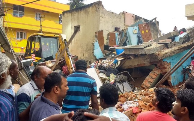 A site of  building collapsed
