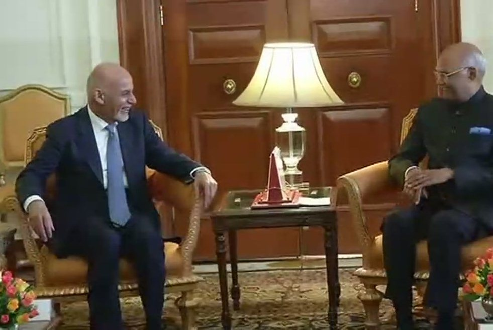 Afghanistan President Ashraf Ghani met President Ram Nath Kovind