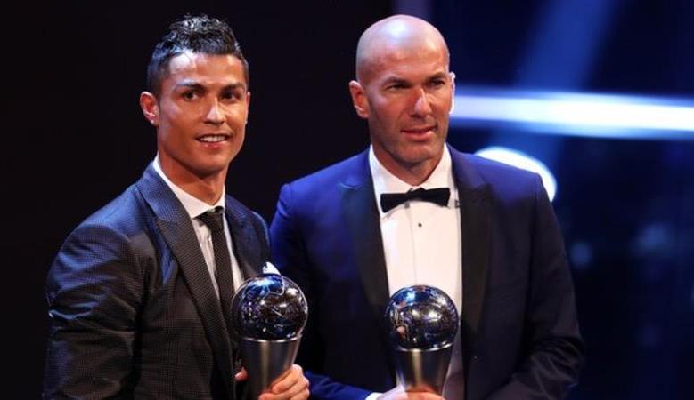 Real Madrid star Cristiano Ronaldo and Oliver Giroud