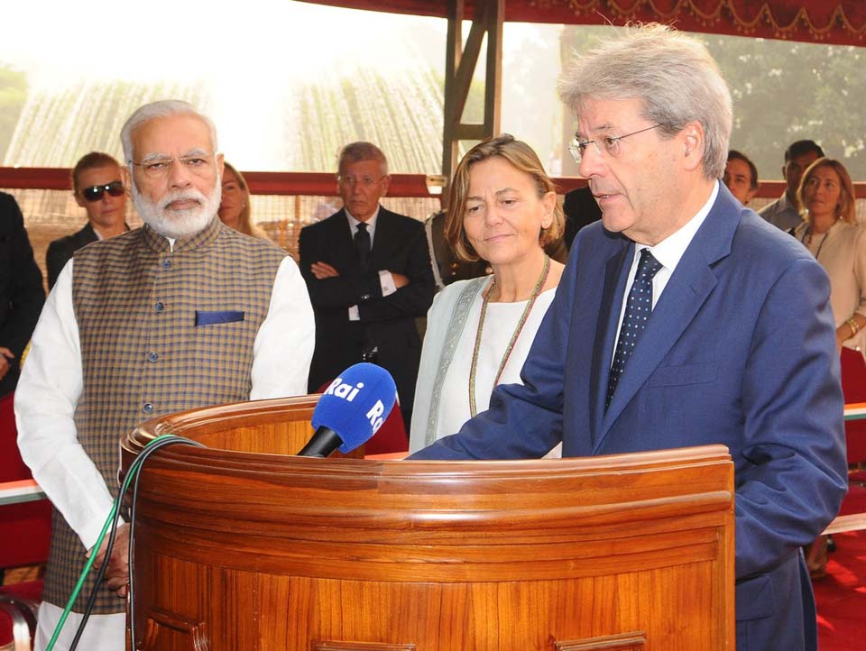 Italy's Prime Minister Paolo Gentiloni