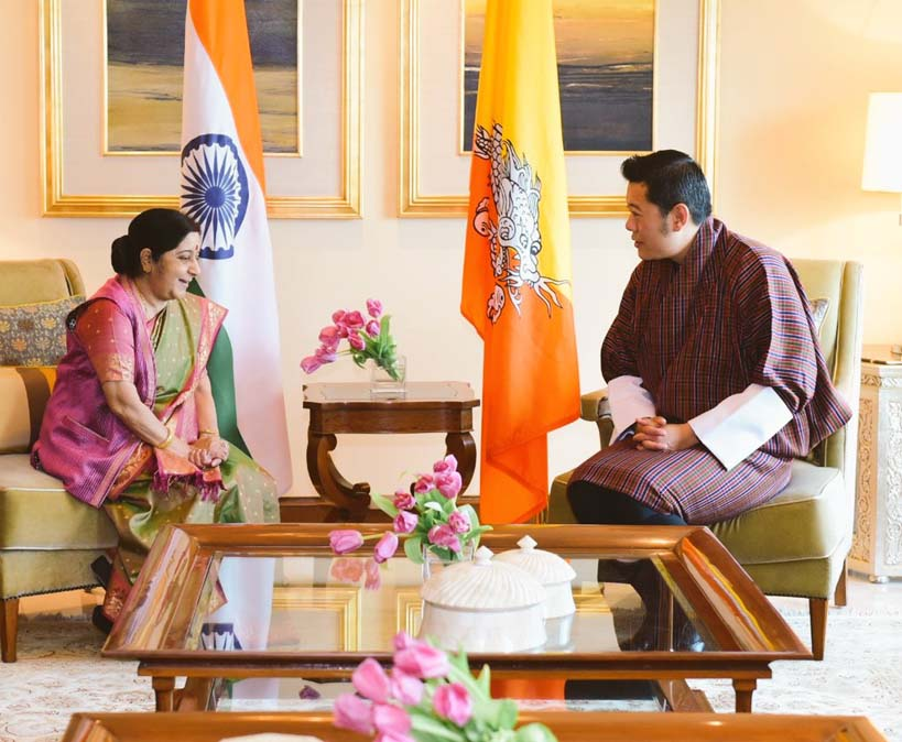 External Affairs Minister meets Jigme Khesar Namgyel