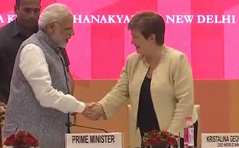 Prime Minister Narendra Modi with Kristalina Georgieva