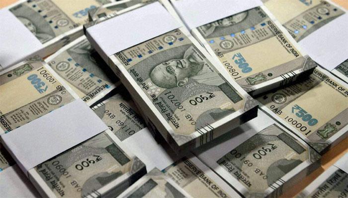 Rupee falls 20 paise