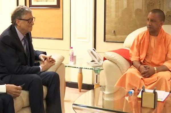 Microsoft founder Bill Gates meets Uttar Pradesh Chief Minister Yogi Adityanath