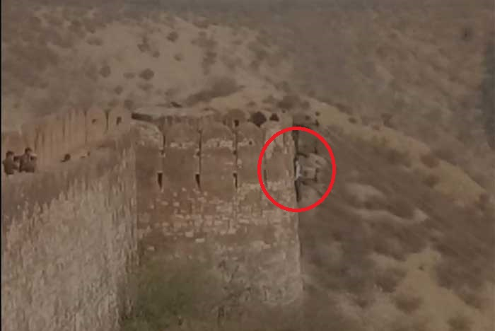 The body which was found hanging on the ramparts of Jaipur's Nahargarh Fort