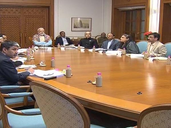 Prime Minister Narendra Modi in the meeting