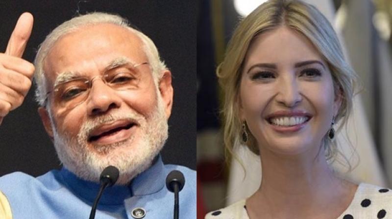 Narendra Modi and Ivanka Trump (File photo)