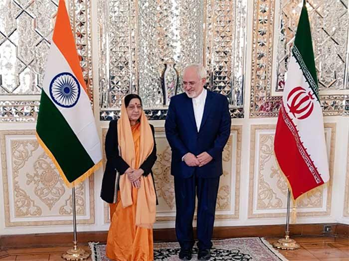 Sushma Swaraj and Dr Javad Zarif
