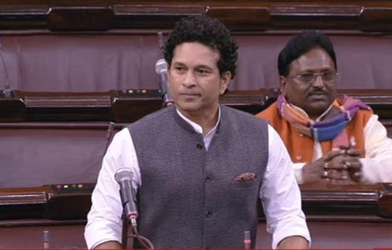 Sachin Tendulkar in the Rajya Sabha