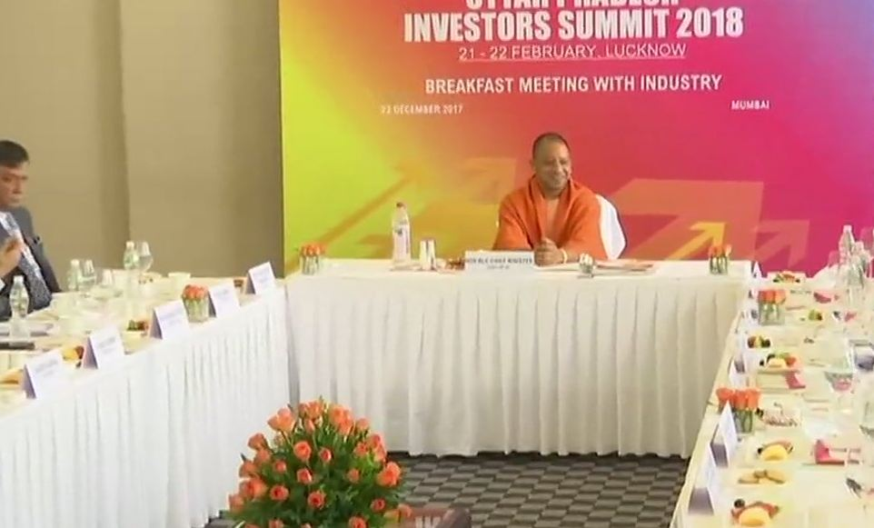 Uttar Pradesh Chief Minister Yogi Adityanath during a meeting
