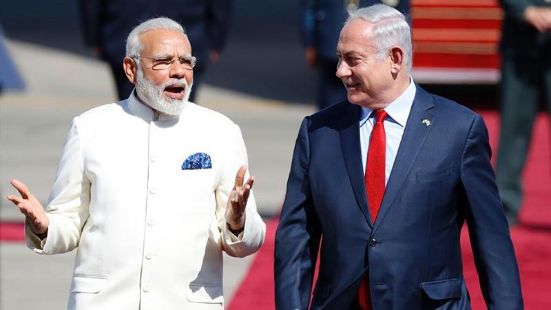 Narendra Modi & Benjamin Netanyahu