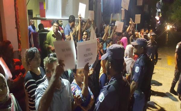Public Protesting in maldives