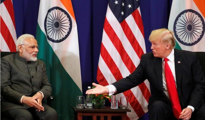 U.S. President Donald Trump holds a bilateral meeting with Prime Minister Narendra Modi