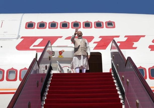 Prime Minister Narendra Modi leaves for New Delhi