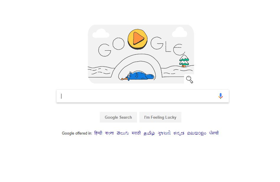 Google Doodle on Winter Olympics