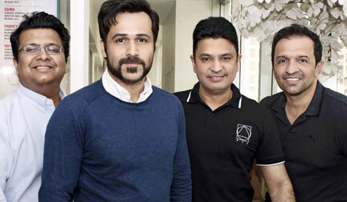 Emraan Hashmi with the team of Cheat India