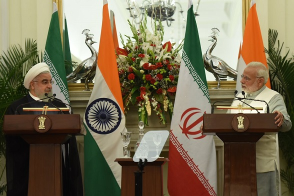 Prime Minister Modi in the joint statement with his Iranian counterpart Hassan Rouhani