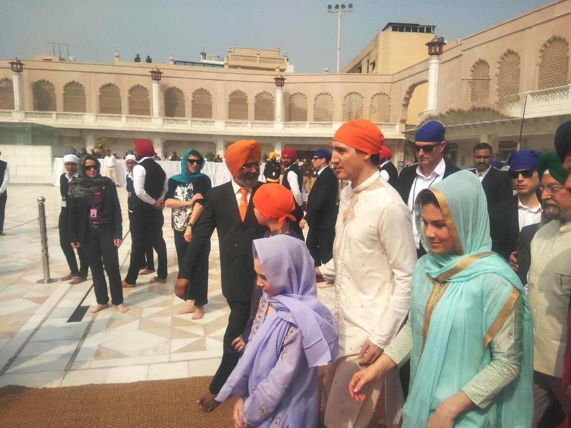 Prime Minister Justin Trudeau at Amritsar's Golden Temple