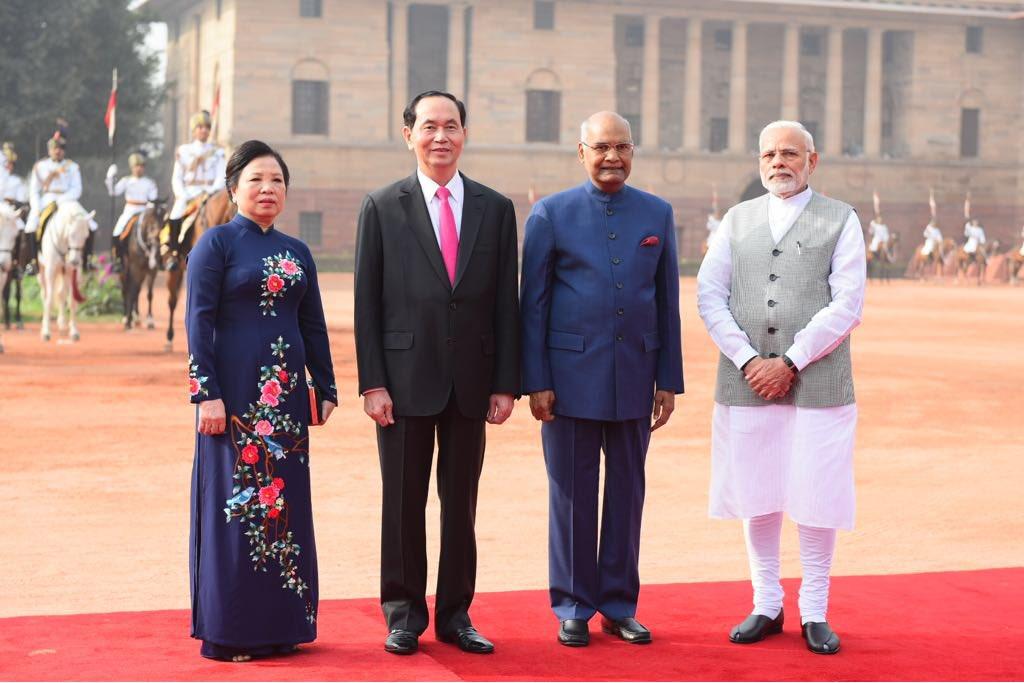 Vietnamese President Tran Dai Quang at Rashtrapati Bhawan