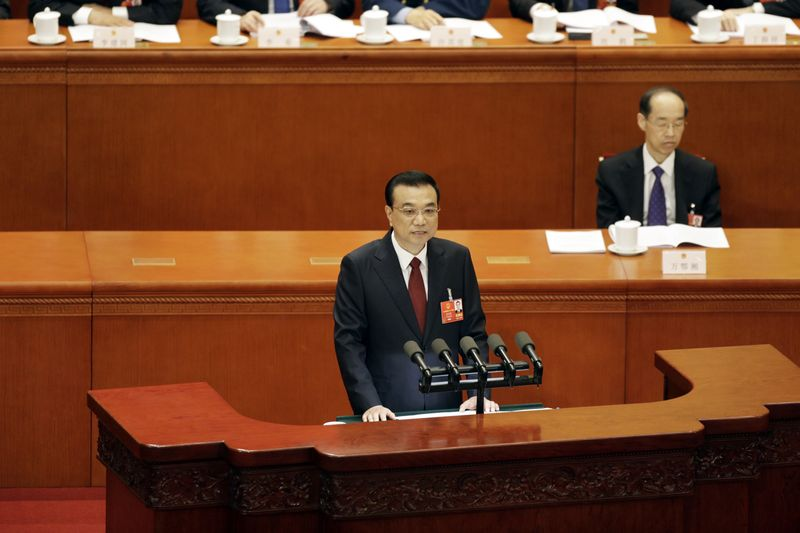 Chinese Premier Li Keqiang at The Great Hall of People