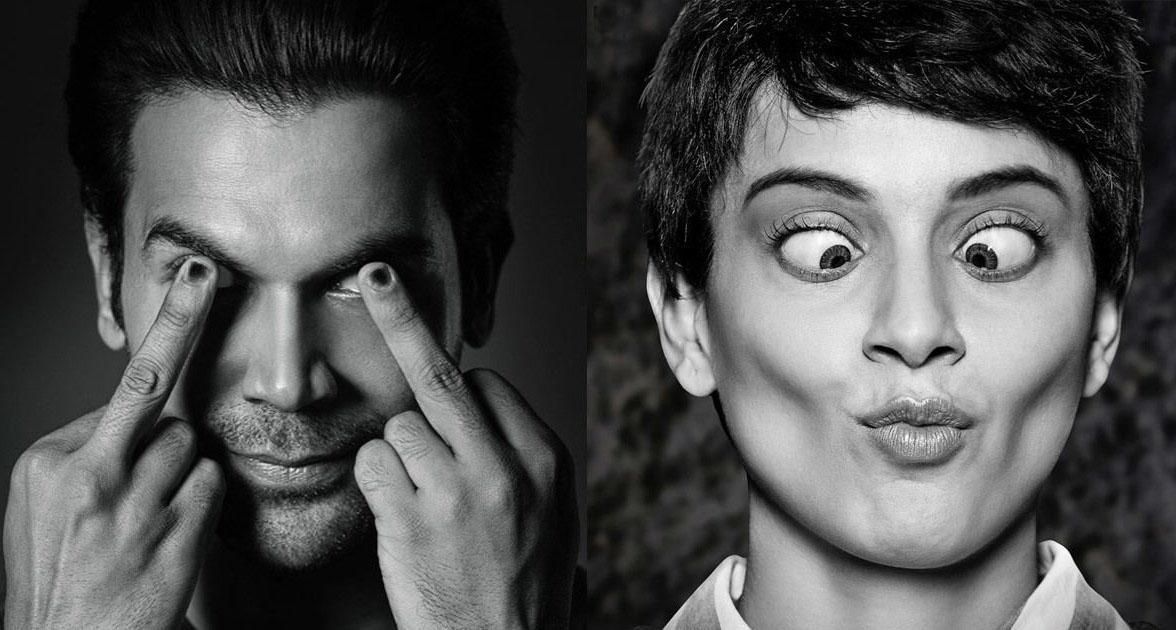 Bollywood actors Rajkumar Rao and Kangana Ranaut