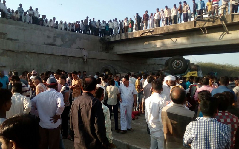 Site of the accident in Gujrat