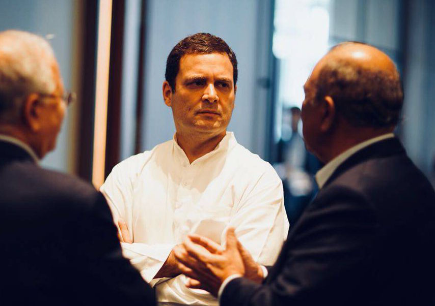 Rahul Gandhi meeting with CEO Indian-origin CEOs of companies in Singapore