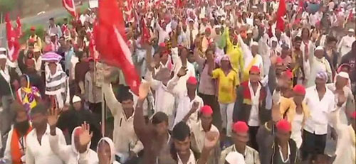 Farmers Protest at Thane