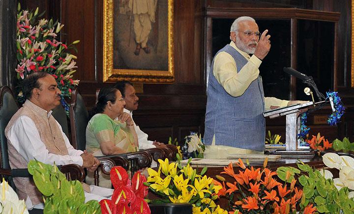 Prime Minister Narendra Modi in Parliament