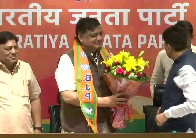 Naresh Agrawal joins BJP in the presence of Union Minister Piyush Goyal